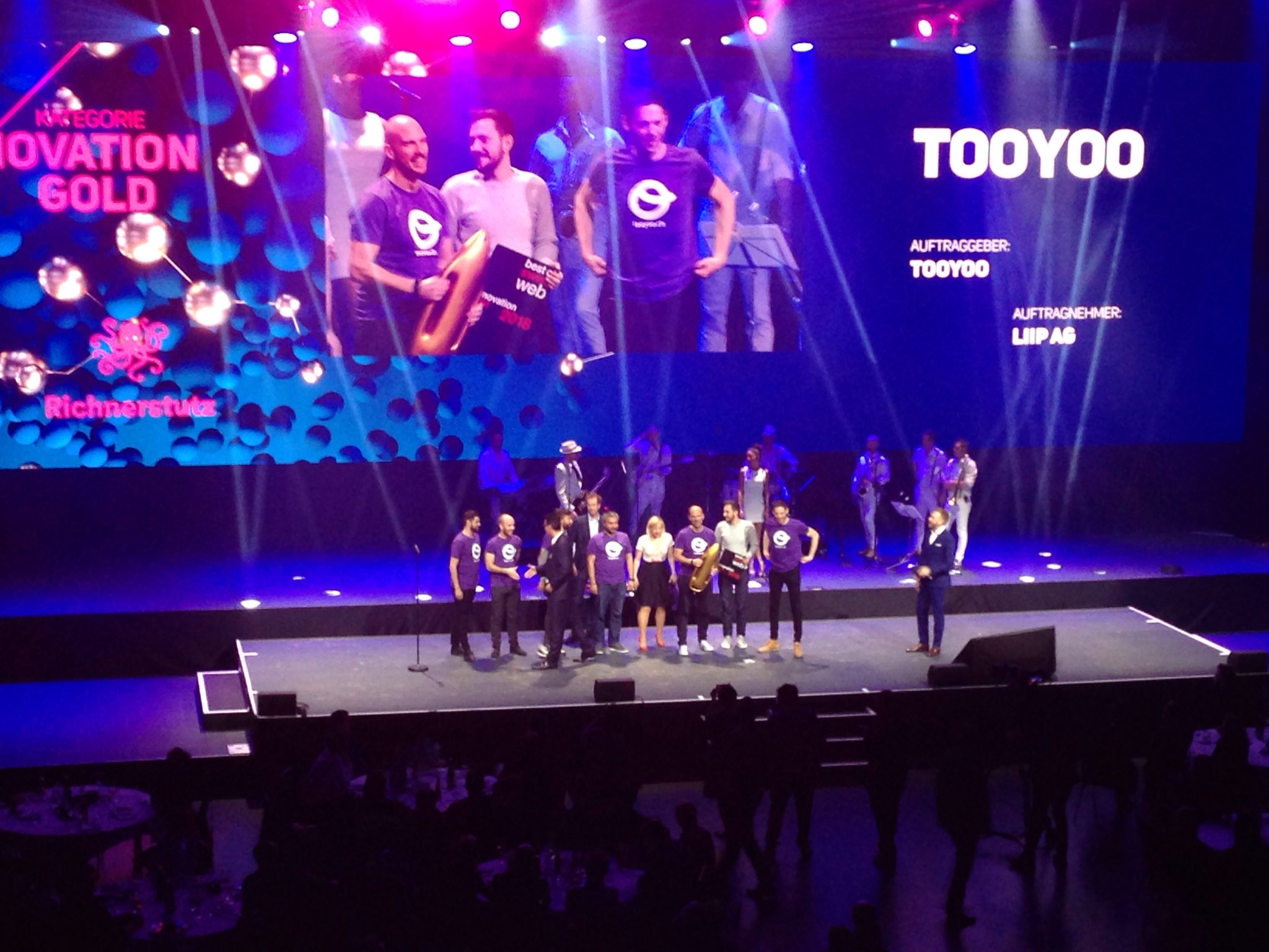 Gold award inovation tooyoo - best of swiss web 2018