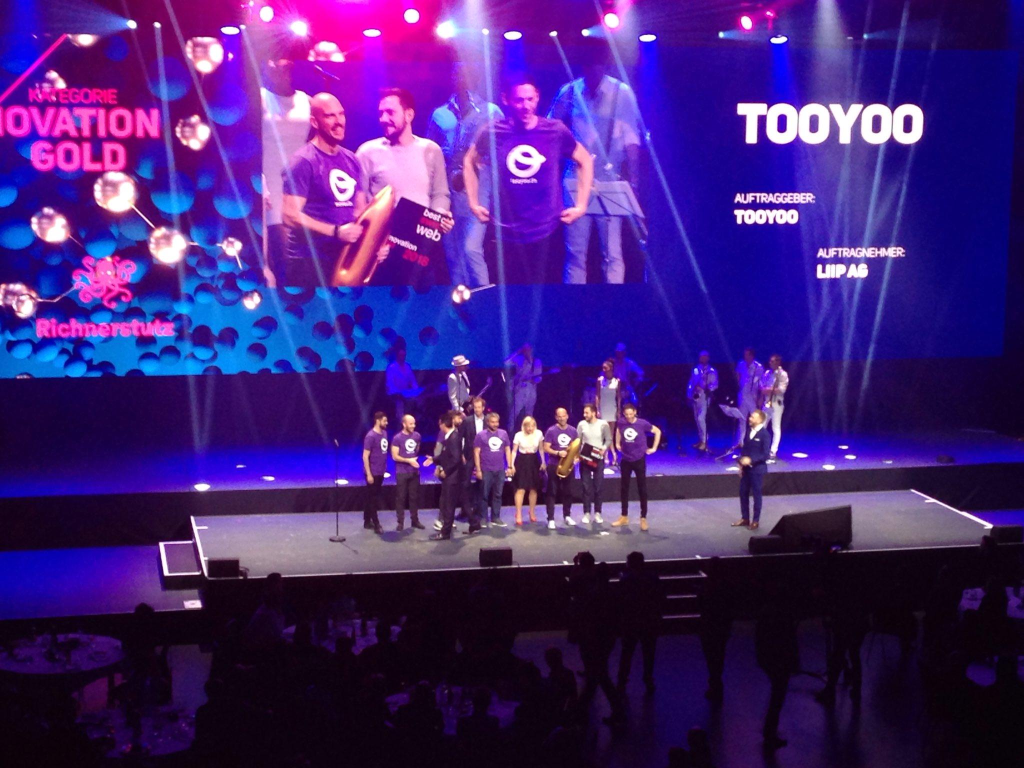 Gold award inovation tooyoo - best of swiss web 2018